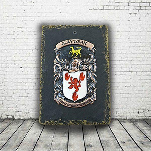 Slate Irish Family Crest Plaque