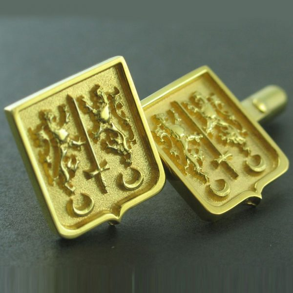 Coat of Arms Cufflinks - Gold