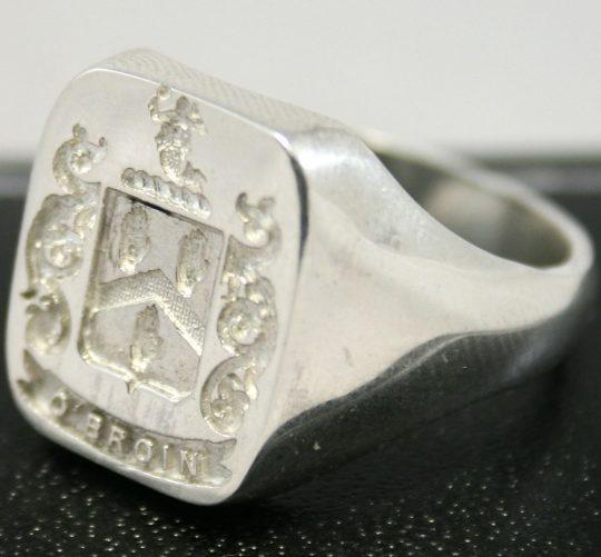 Custom Made Irish Coat of Arms Rings - Family Crest Ring